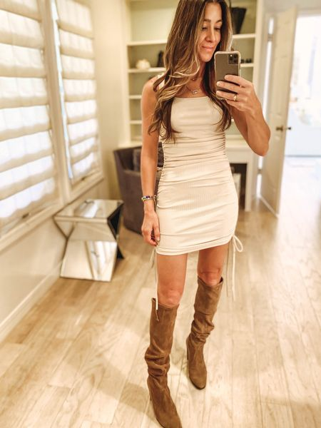 Styling this amazon fashion dress find a few ways in stories. You can change the look by changing the shoe and adding different style jackets to take this one in to Fall!   #LTKstyletip #LTKshoecrush #LTKunder50