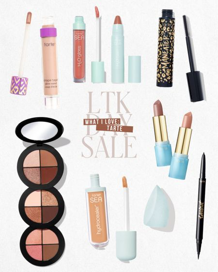 LTK DAY SALE — Exclusive in-app savings from Tarte. Save 25% this weekend only when you shop these items and more directly through the LTK app!  — Eyeshadow — Lip combos — Mascara — Concealer — Eyeliner   #LTKDay #LTKbeauty #LTKsalealert