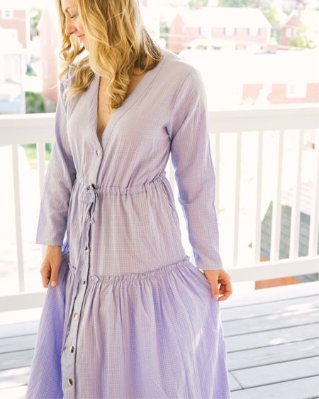 For $67, you can't beat the price of this summer maxi dress! Purple seersucker fabric gives it a whimsical look while the easy silhouette keeps things casual. #LTKunder100 http://liketk.it/2PF7W #liketkit @liketoknow.it
