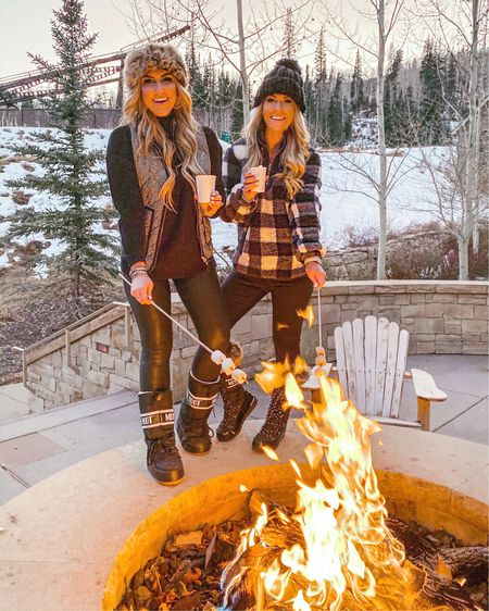 """""""Hey, you want a s'more? Some more of what?"""" YOU'RE KILLING ME SMALLS! 😂⚾️ name that movie!? Laura's buffalo Sherpa is on sale and the PERFECT cozy pullover for this freezing weather! Also available in 8 other colors🙌🏻 Sharing all our outfit details in the @liketoknow.it app! #liketkit #LTKunder100 #LTKunder50 #LTKholidaystyle #LTKholidayathome #LTKholidaygiftguide #LTKtravel #LTKsalealert #LTKstyletip http://liketk.it/2GNmu"""