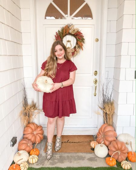 That Fall Feeling 🍂  •  Download the LIKEtoKNOW.it app to shop my dress and boots, they both come in a bunch of different colors too!   http://liketk.it/2FU7S #liketkit #LTKunder50  #LTKshoecrush @liketoknow.it