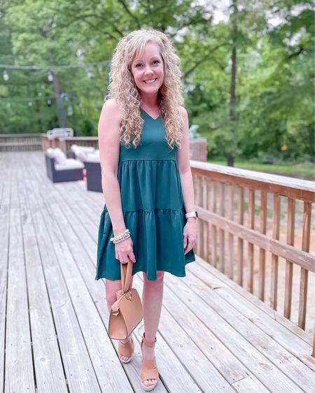 Amazon Summer dresses / tiered / ruffles / hunter green size small http://liketk.it/3fFda #liketkit @liketoknow.it #LTKunder50 #LTKstyletip #LTKwedding