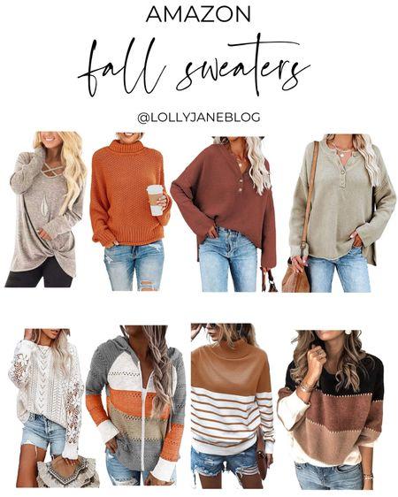 Amazon fall sweaters!  Lolly Jane | #lollyjane   #LTKunder100 #LTKsalealert #LTKunder50