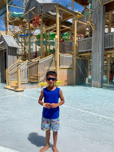 Water Park fun. Little guy is rocking his Flip Flop swim trunks from Walmart. @walmart Rocking his super cool sunglasses from @academy #WaterPark #Travel #SummerFun   #LTKkids #LTKtravel #LTKswim