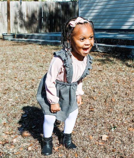Toddler 2 piece plaid dress with long sleeve shirt   #LTKkids #LTKVDay #LTKfamily