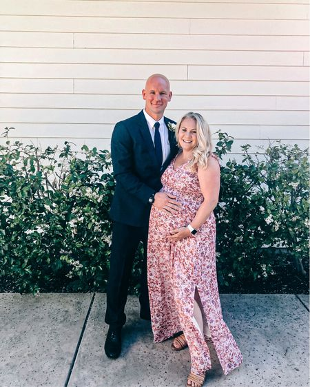 Wedding guest dress. I scored this gorgeous floral maxi dress at Marshall's. It's from Banana Republic and is non-maternity. I found some available on eBay so I'm linking to one there as well as a similar option that's currently on sale from Express.   #LTKstyletip #LTKSeasonal #LTKwedding