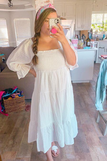 Nap dress smocked dress hill house dress for less Lilly Pulitzer lele Sadoughi headband jack Rogers sandals   #LTKtravel #LTKSeasonal #LTKunder50