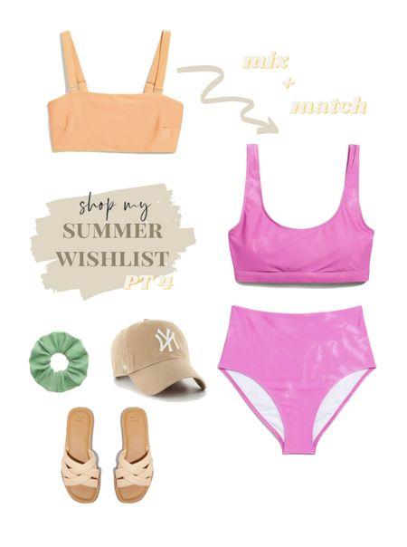 summer wishlist! swimsuit. bikini. ny hat.  #LTKsalealert #LTKstyletip #LTKswim