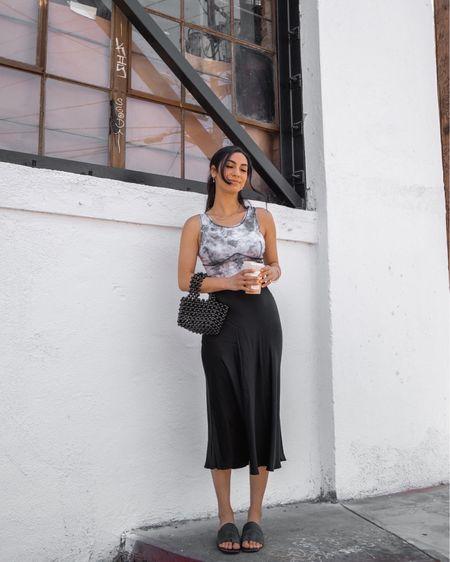 MIDI skirt outfit 🐄🖤   #LTKshoecrush #LTKworkwear #LTKunder100