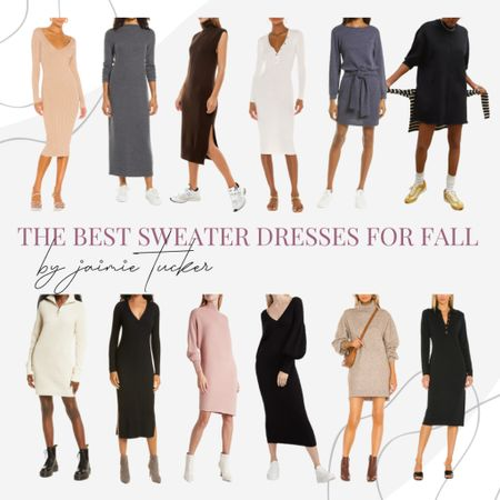Sweater dresses are a great transitional piece to have in the closet, especially now that the chillier seasons are approaching. | #sweaterdresses #fallpieces #falldresses #workwear #errandsoutfit #traveloutfit #JaimieTucker  #LTKSeasonal #LTKworkwear #LTKstyletip