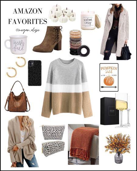 Amazon fashion, fall outfits, sweaters, fall fashion, mugs, coats, jackets, boots, fall decor, handbags, gold jewelry, Amazon must haves, Amazon beauty, fall home decor, fall mugs, wine glasses. #fall #amazon #fashion  #LTKhome #LTKunder100 #LTKstyletip