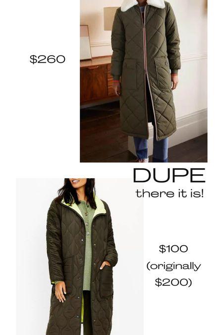 Quilted jacket, 50% off!, fall jacket, look for less, outerwear, loft, Boden   #LTKSeasonal #LTKstyletip #LTKsalealert