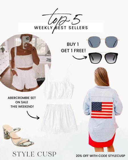 Weekly top 5! Abercrombie sale, quay sunnies, July 4th @liketoknow.it http://liketk.it/3iUrU #liketkit