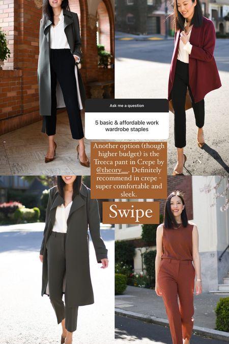 Another workwear staple option for ankle pants: these in crepe!   #LTKsalealert #LTKstyletip #LTKworkwear