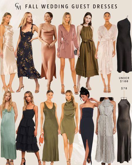 Fall wedding guest dresses. Fall wedding style.     #LTKSeasonal