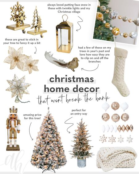 Christmas home decor, home decor for the holidays, inexpensive decorations for Christmas, neutral Christmas home  #LTKhome #LTKeurope #LTKHoliday