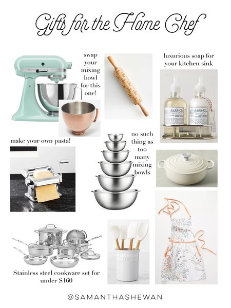 Gifts for the Home Chef, cooking gifts, kitchen gift ideas, housewarming gifts http://liketk.it/328eg #liketkit @liketoknow.it #LTKgiftspo #LTKhome #StayHomeWithLTK