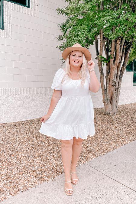 White dress, wedding shower dress, summer dress, summer outfit, target finds, plus size, dresses with pockets http://liketk.it/3hxaq #liketkit @liketoknow.it #LTKcurves #LTKunder50 #LTKshoecrush