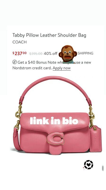 SALE ALERT!! Coach Tabby Pillow Leather Shoulder Bag $237  #LTKsalealert