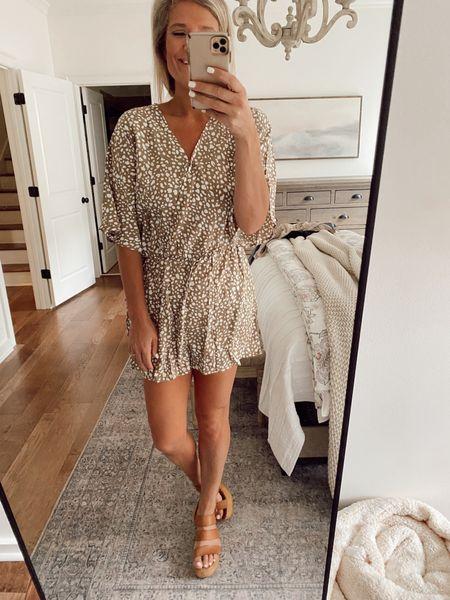 Fall outfit // romper   #LTKstyletip #LTKunder50 #LTKfit