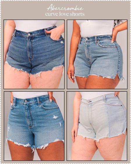 denim shorts - Abercrombie curve love shorts   #LTKDay #LTKunder100 #LTKcurves