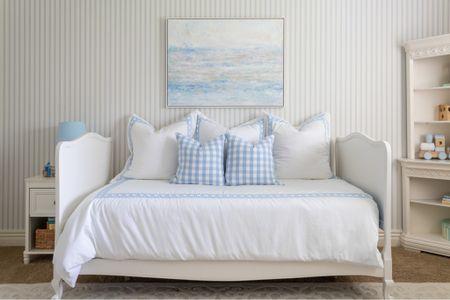 Nursery decor, blue nursery decor, blue and white bedding, duvet cover. #liketkit @liketoknow.it http://liketk.it/3jk1j