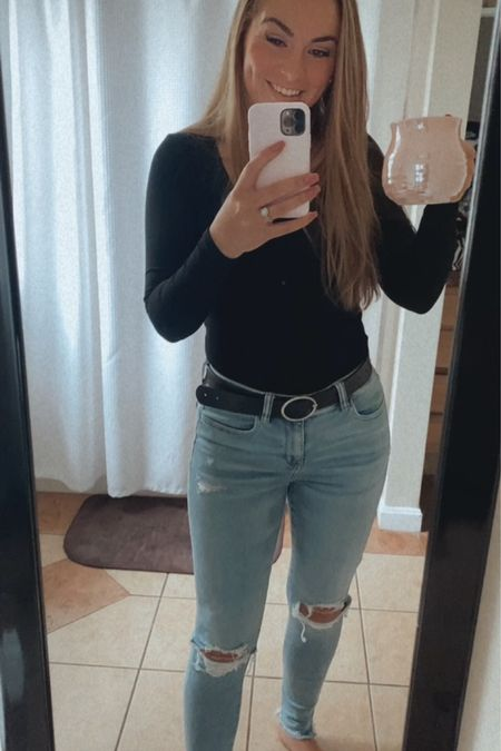 ae finds, amazon finds, bodysuit, thong bodysuit TTS, small in body suit, 6 in jeans http://liketk.it/3eBVD #liketkit @liketoknow.it #LTKunder100 #LTKunder50 #LTKworkwear