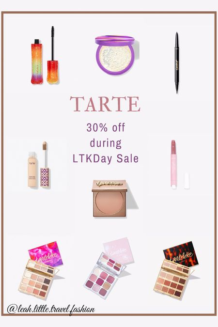 Tarte is by far my favorite cosmetics brand! I swear by their Shape Tape concealer and eyeshadow palettes, and always use their double sided eyeliner. I've also recently fallen in love with their maracuja juicy lip 👄 Everything now 30% during the #ltkday sale!  @liketoknow.it #liketkit #LTKunder50 #LTKbeauty #LTKDay http://liketk.it/3hp3E