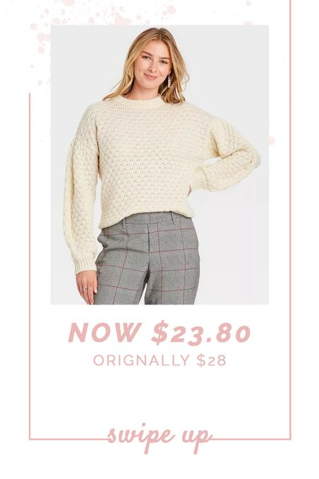 The texture and wide collar of this sweater feel so luxe!  #targetfind #targetstyle #targetdeals