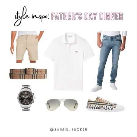 Unsure of what to wear on Father's Day? Check out this little Style Guide here! | #Mensfashion #summeroutfits #vacationoutfits #mensshirts #menspolo #mensfootwear #summerfootwear #styleguide #styleguideforhim #JaimieTucker  #LTKworkwear #LTKstyletip #LTKmens