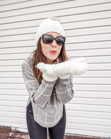 Having snow much fun today! Who else is loving this pretty winter white?  * * * Literally minutes after taking this pic, it became a white out outside! Now it's time for a fire, lighting some candles, and some hot cocoa. Feeling super cozy in this cute ski sweater from @amazon and my new @aerie leggings 💕. The reviews are no joke! I did size up one in the leggings but they are super comfy and versatile - oh yeah and I snagged them for under $30 and with free 2 day shipping from shoprunner! Soooo good.    #LTKsalealert #LTKstyletip #LTKunder50 #LTKunder100 http://liketk.it/2IiGd @liketoknow.it #liketkit Download the LIKEtoKNOW.it app to shop this pic via screenshot. Search for FigAndRoses 💋