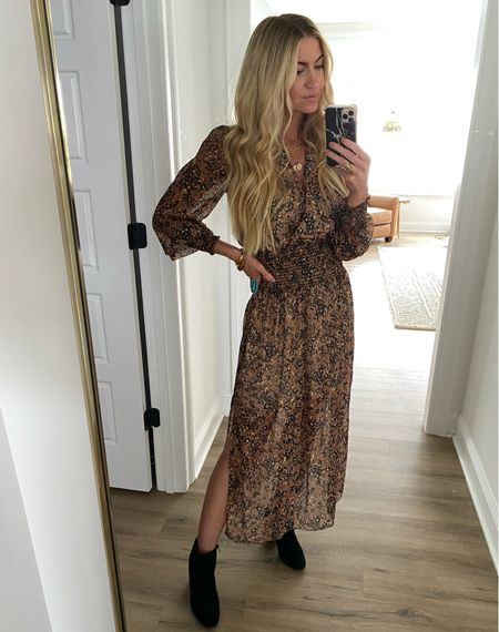 Brown and gold dress
