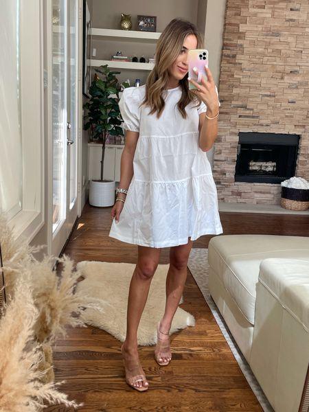 White dress size xxs sandals size 7  #LTKstyletip #LTKunder100 #LTKunder50
