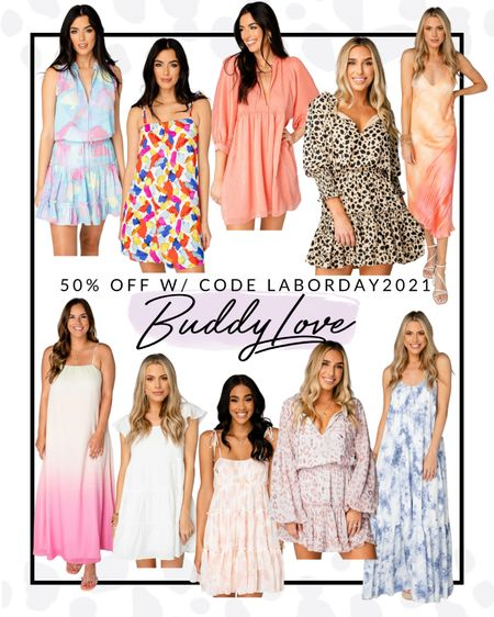 Buddy Love has some incredibly beautiful dresses for 50% off this Labor Day weekend! I have this leopard print one and wear it all the time. Also super obsessed with the watercolors.   #LTKsalealert #LTKfit #LTKcurves