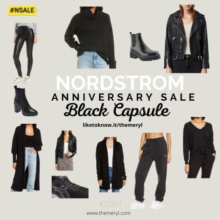 Nordstrom Anniversary Sale, Nordstrom sale, Nordstrom finds, capsule wardrobe, black clothes, black basics, black shoes  Follow my shop in the @shop.LTK app to shop this post and get my exclusive app-only content!  #liketkit @shop.ltk  #LTKunder100 #LTKstyletip #LTKsalealert