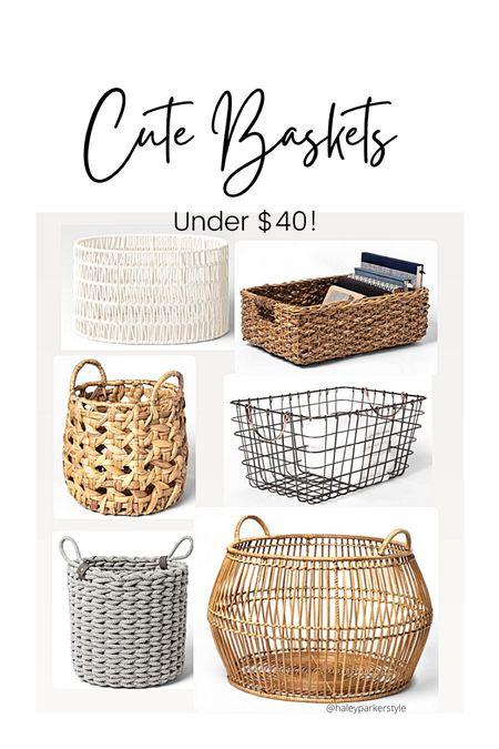 Cute baskets under $40 Target home decor Oval rope basket Decorative basket  Living room decor  #LTKhome #LTKstyletip #LTKunder50