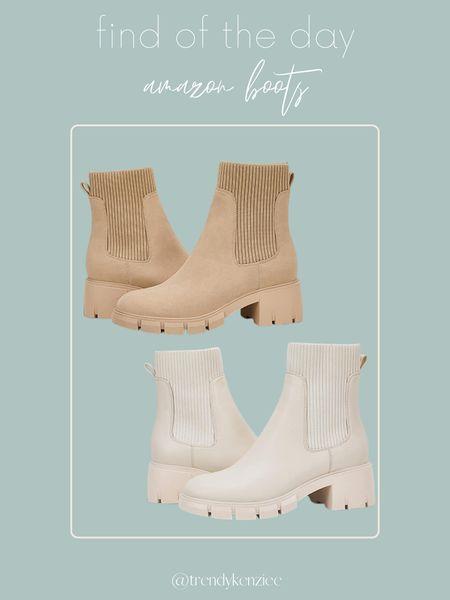amazon boots / amazon boot / boots / cream boots / tan boots / fall shoes / fall shoe     #LTKunder100 #LTKshoecrush