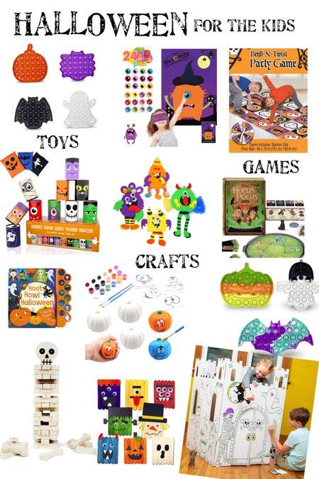 Kids Halloween Crafts & Games