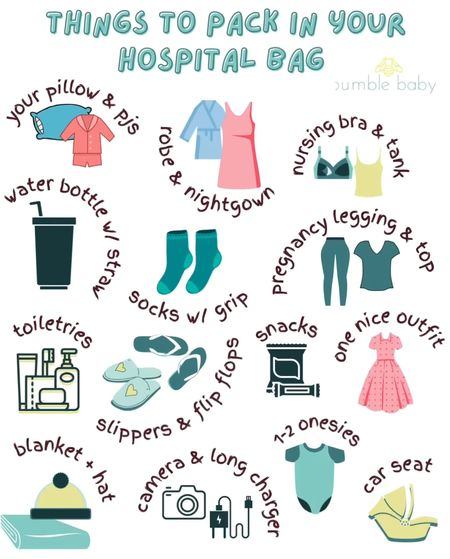 Things to pack in your hospital bag! Spoiler alert - you don't need undies! Part 1 of 2.   #LTKbump #LTKbaby