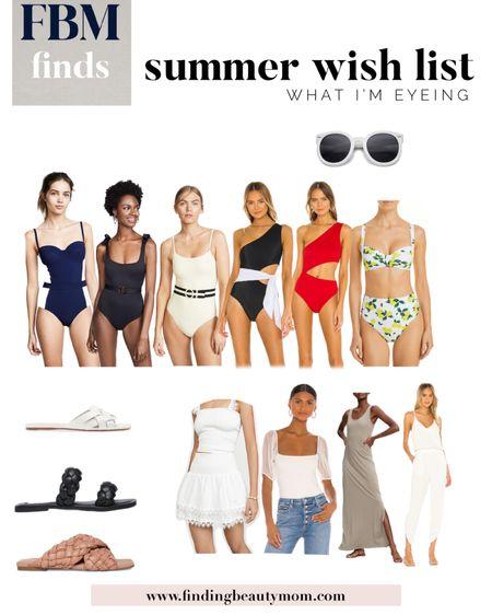 Summer wish list, swimsuits, one peice swim, beach style, vacation looks, beach style, pool style, summer fashion http://liketk.it/37PxS @liketoknow.it #liketkit #LTKSeasonal #LTKtravel #LTKswim