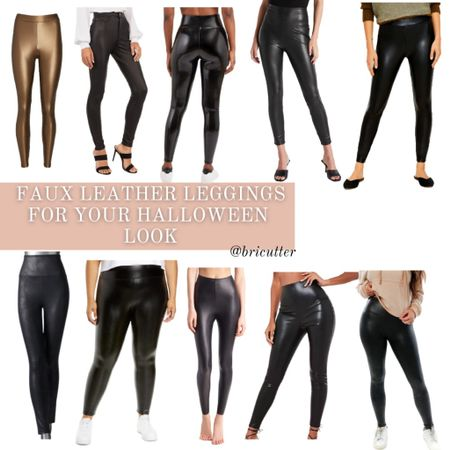 Looking for some faux leather leggings for your Halloween look? Here are some options! And they're super cute to wear with oversized sweaters too!   #LTKunder100 #LTKstyletip #LTKSeasonal