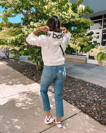 Hoodie: true to size, sized up to a M Jeans: true to size (28)  New balance Sneakers: true to size, size up if between   Amazon, amazon fashion  #LTKshoecrush #LTKunder50 #LTKsalealert