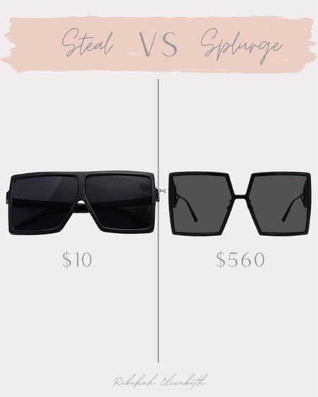Get the look for less 🖤🖤 black sunglasses // #rebekahelizstyle  #LTKstyletip #LTKunder50 #LTKsalealert
