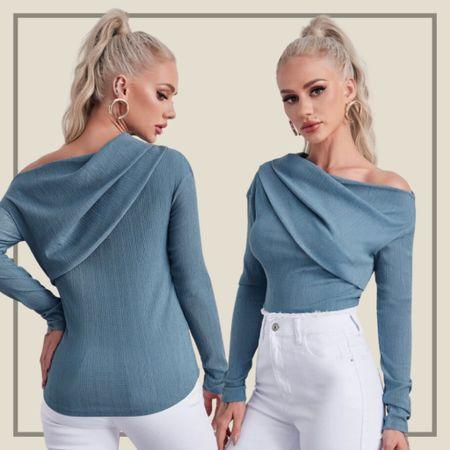 Asymmetrical neck top  #LTKstyletip #LTKunder50