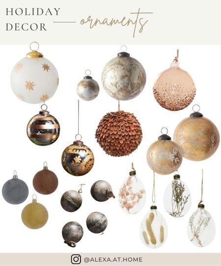 Holiday decor - ornaments   Christmas ornaments, ball ornaments, holiday ornaments , glass ornaments   #LTKhome #LTKHoliday #LTKSeasonal