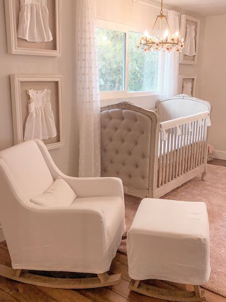 Shop my nursery! Vintage, traditional with touches of whimsical. I stayed with a neutral palate of my favorite colors- greys, blush, nudes. Also, Pottery Barn is having a SALE on this MUST HAVE chandelier! Shop my daily looks by following me on the LIKEtoKNOW.it app @liketoknow.it.home #LTKbaby #LTKbeauty #LTKbump #LTKcurves #LTKfamily #LTKhome #LTKkids #LTKsalealert #LTKspring #LTKstyletip #LTKunder50 #LTKunder100 http://liketk.it/2BA8d #liketkit @liketoknow.it
