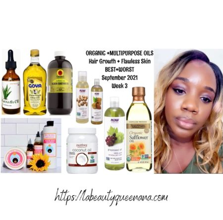ORGANIC + HAIR GROWTH OILS THAT ACTUALLY WORK INSTANTLY| MY SECRET MULTIPURPOSE OIL MIX RECIPE FOR HAIR GROWTH + FLAWLESS SKIN ♡    #LTKunder100 #LTKbeauty #LTKunder50