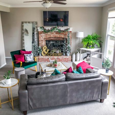 Christmas is here! Affordable holiday decor for a modern living room. 🎄 #liketkit @liketoknow.it http://liketk.it/33OTo #StayHomeWithLTK #LTKhome #homedecor