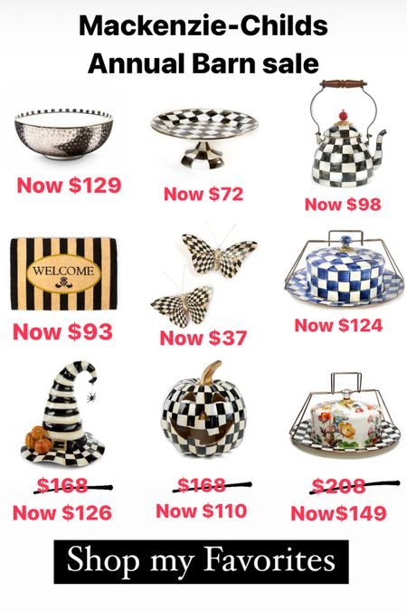 Mackenzie-Child's annual barn sale- lowest prices you'll ever get. Love collecting her stuff.   #LTKsalealert #LTKhome