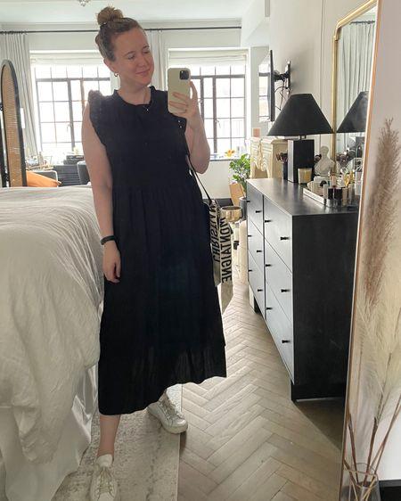 Tiered midi dress from jcrew (M) and sneakers @liketoknow.it http://liketk.it/3gWzQ #liketkit